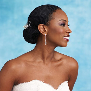 2014 Black / African American Wedding Hairstyles. Bridal hair ideas for black and African American women. It