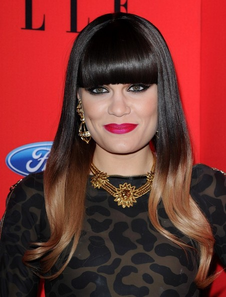 Jessie J Tries Ombre Hair Color Trend Fashion Trend Seeker