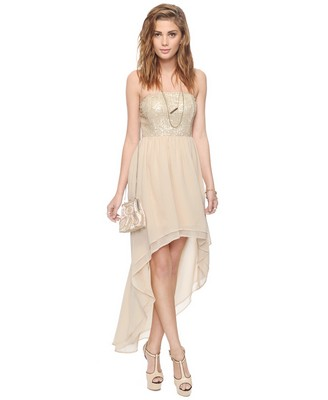Forever 21+ Pleated Knot Strapless Special Occasion Dress