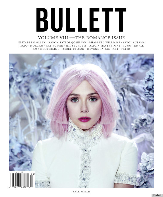 Elizabeth Olsen With Pink Hair For Bullett Magazine