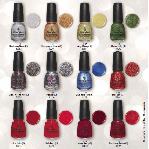 China Glaze Holiday Joy Nail Polish Collection for Winter 2012