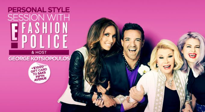 Comment To Win Private Style Consultation with George Kotsiopoulos From E! Fashion Police