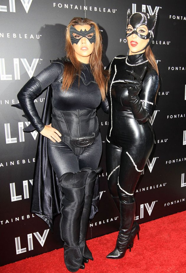 Kim Kardashian Dresses Up As Catwomen