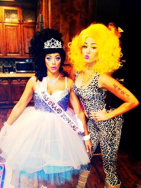 Miley Cyrus Dresses Up As Nicki Minaj For Her Halloween Costume