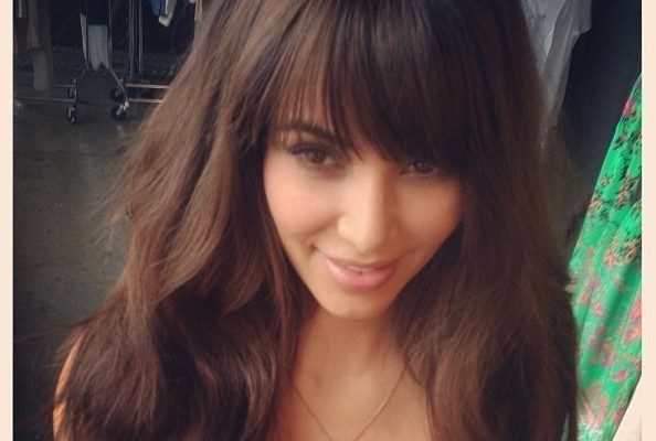 Kim Kardashian Goes Back To Bangs – Check Out Her New Blunt Bang Hairstyle