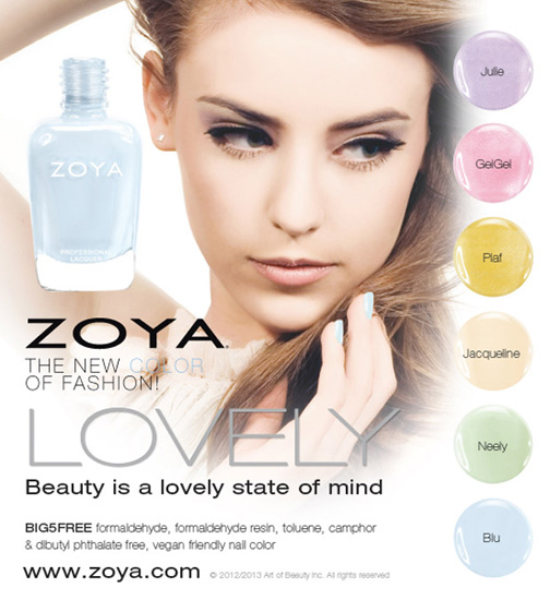 Zoya Spring 2013 Lovely Nail Polish Collection