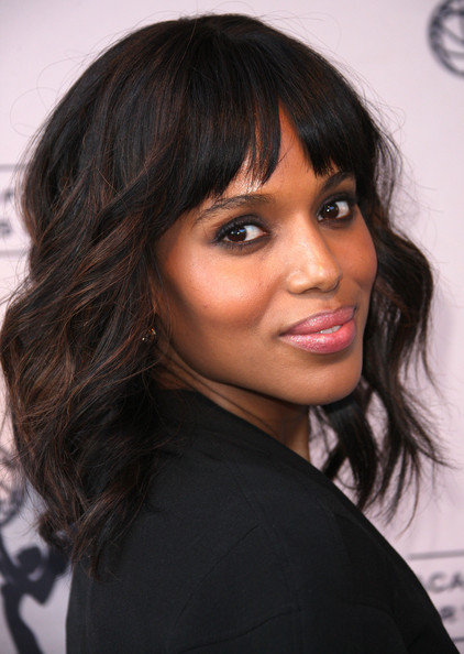 Celebrities Hairstyles With Blunt Bangs 3
