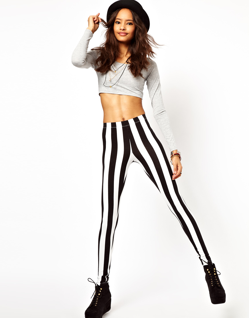 We're Craving Black and White Striped Pants for Spring 2013