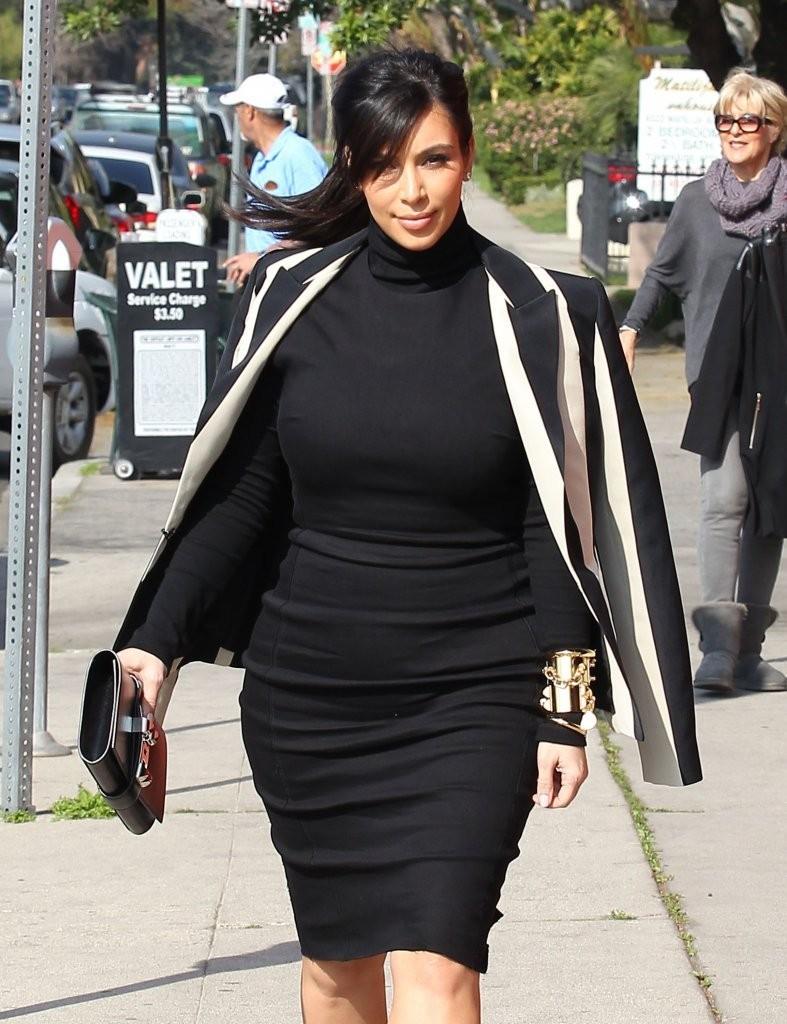 Kim Kardashian's Striped Blazer