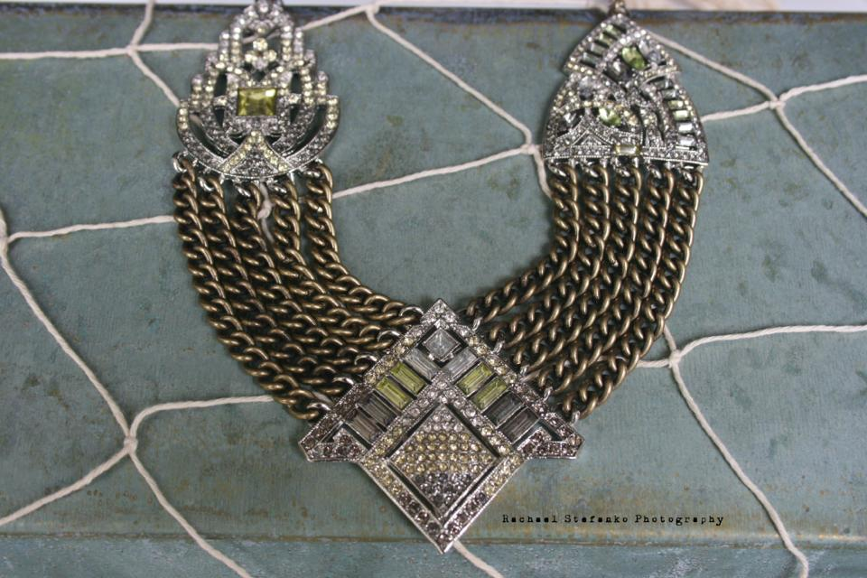 Art Deco Chain Swag Statement Necklace 3