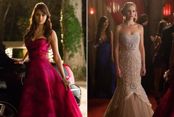 Elena and Caroline's Prom Dresses From  'Vampire Diaries'