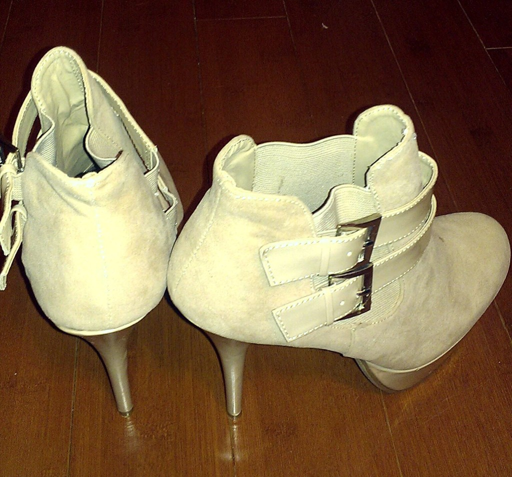 Just Fab Nude Platform Booties 2