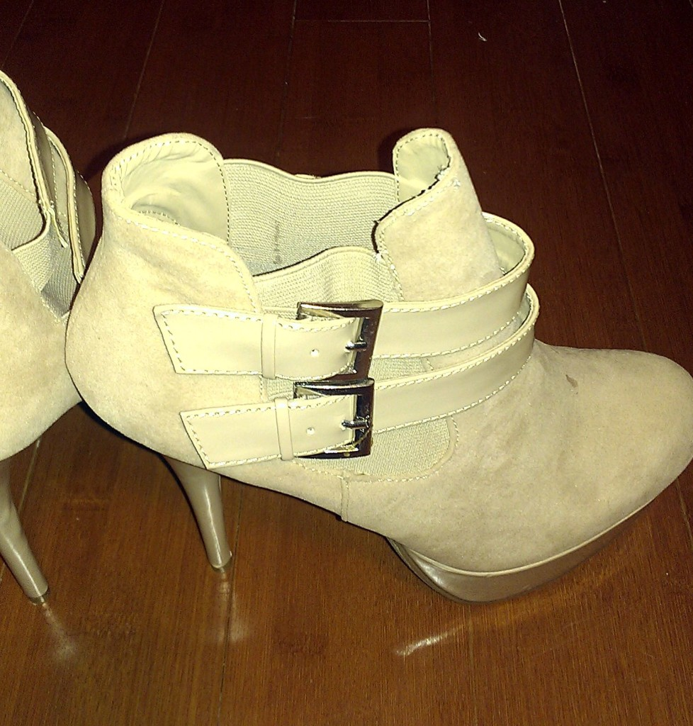 Just Fab Nude Platform Booties 3