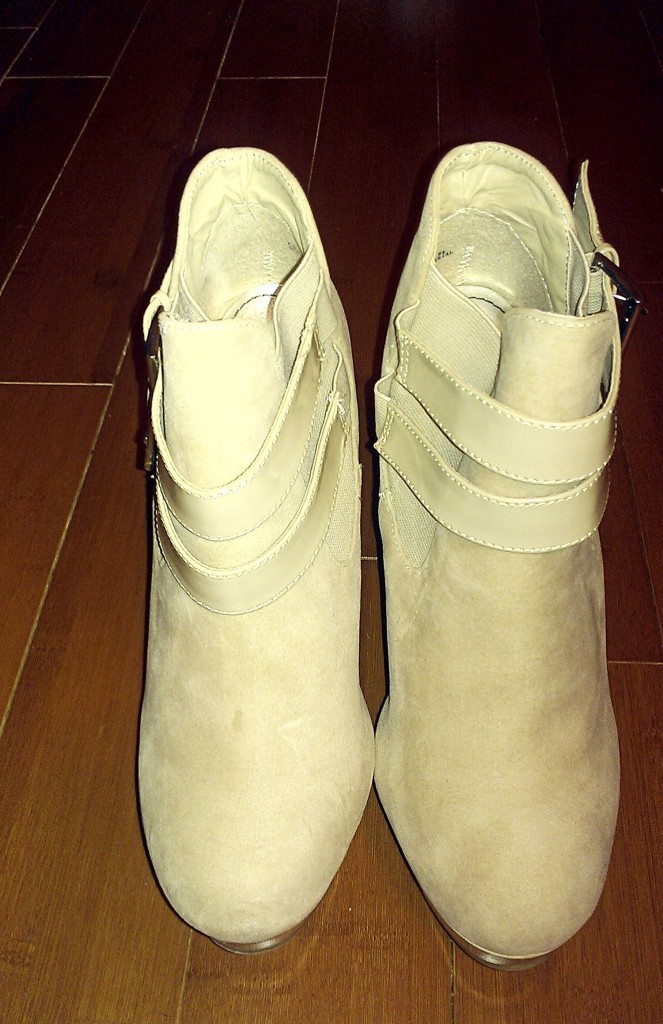 Just Fab Nude Platform Booties 4