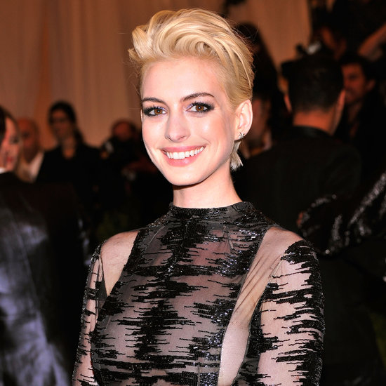 Anne Hathaway Goes Blonde At Met Gala