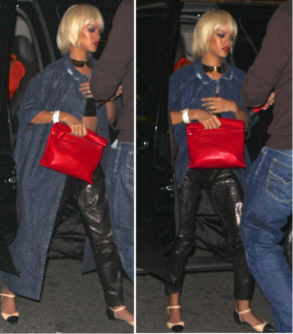 Who's That Girl? Rihanna Spotted With Blunt Bangs and Blonde Bob Wig