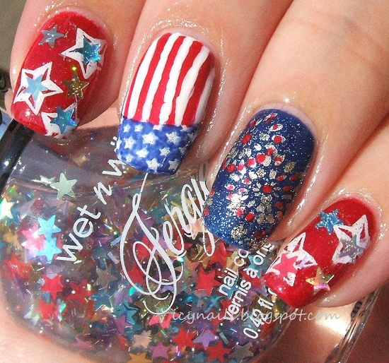 4th Of July Nail Polish & Nail Art Ideas For You To Try 6