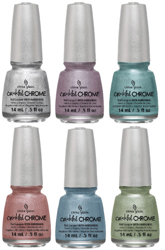 China Glaze Winter 2013 Crinkled Chrome Collection 2