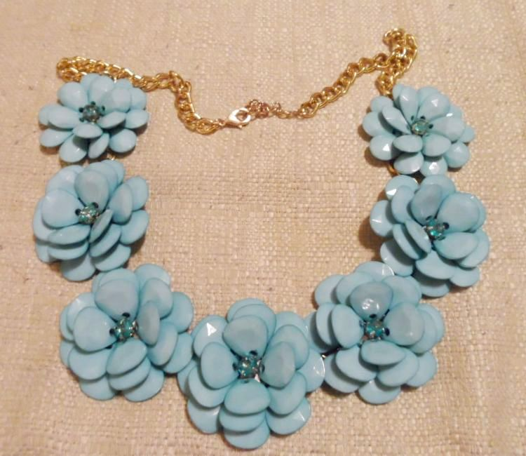 Mint Jumbo Blossom Necklace 2