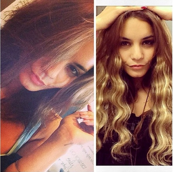 Vanessa Hudgens Does Ombre Trend Check Out Her New Blonde Tips 2