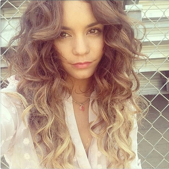 Vanessa Hudgens Does Ombre Trend Check Out Her New Blonde Tips