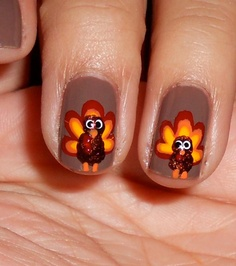 Thanksgiving Nail Art Designs & Ideas 8