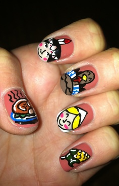 Thanksgiving Nail Art Designs & Ideas 9