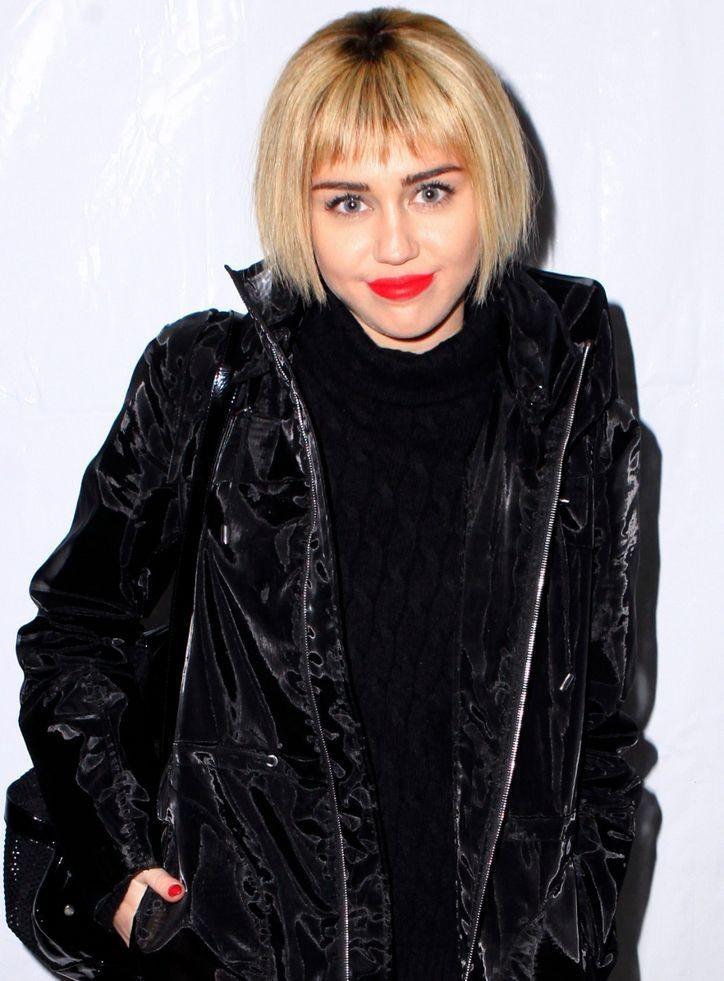 Miley Cyrus Get Bob Haircut and Fringe Bangs 2