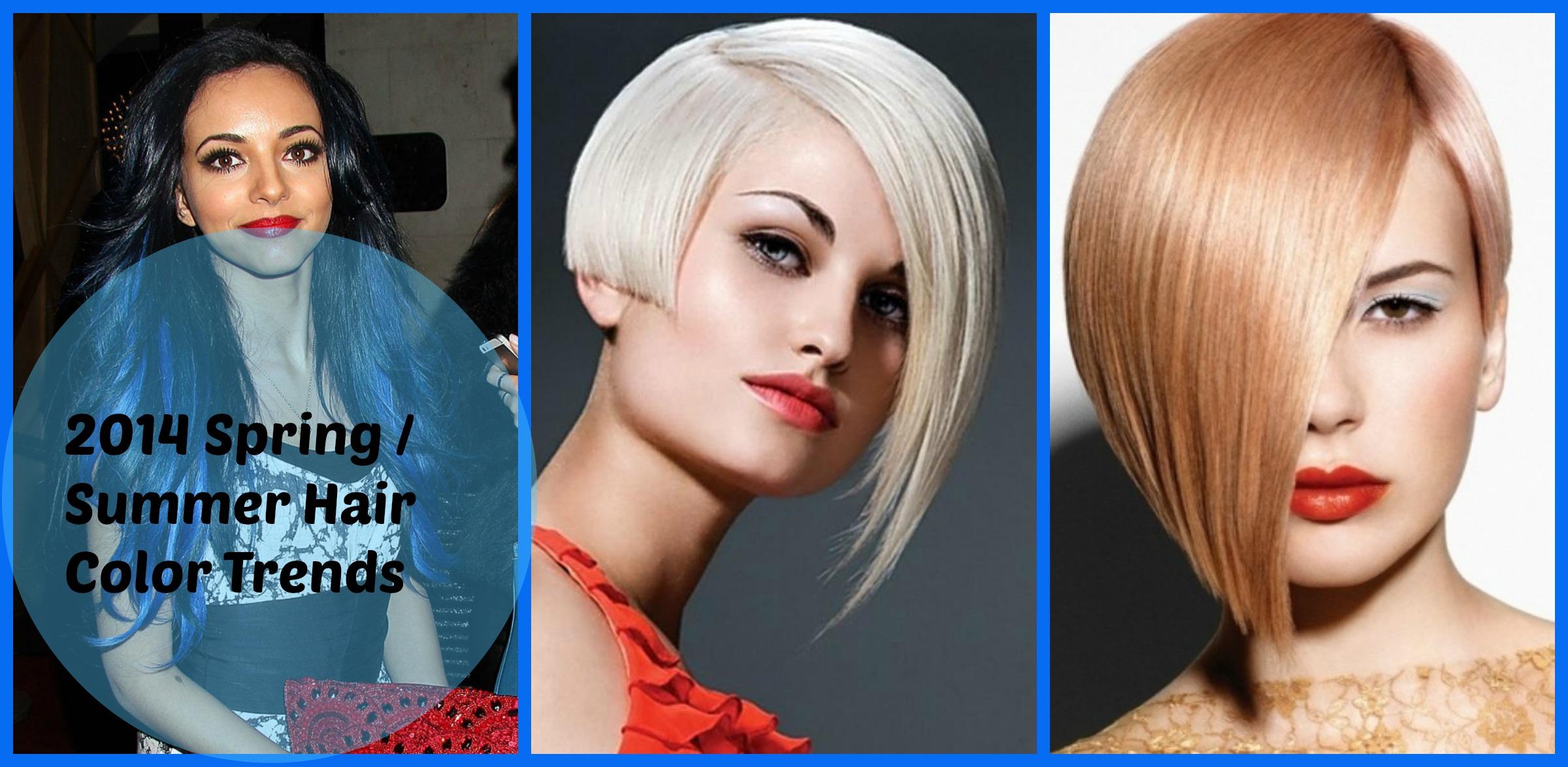 Tremendous 2014 Spring Summer Hair Color Trends Short Hairstyles Gunalazisus