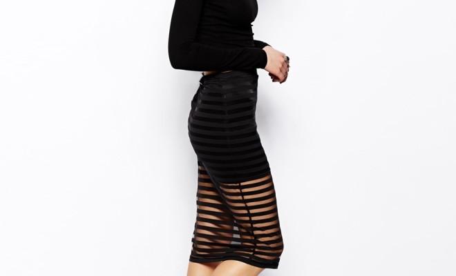 Fashion Trend Seeker: Sheer Bottom Dresses And Skirts 9