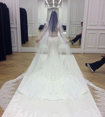 Kim Kardashian Shows Off First Pics Of Her Givenchy Wedding Dress 4