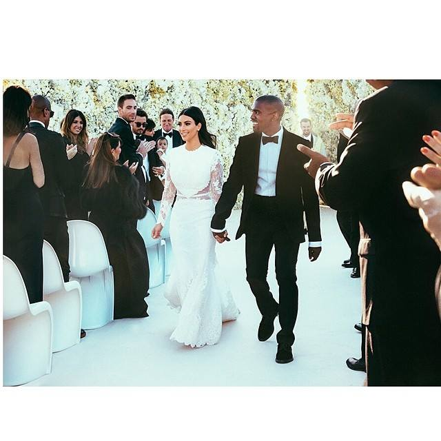 Kim Kardashian Shows Off First Pics Of Her Givenchy Wedding Dress