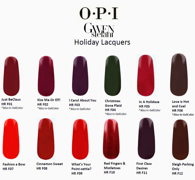 OPI Holiday 2014 Gwen Stefani New Nail Lacquers Collection 2