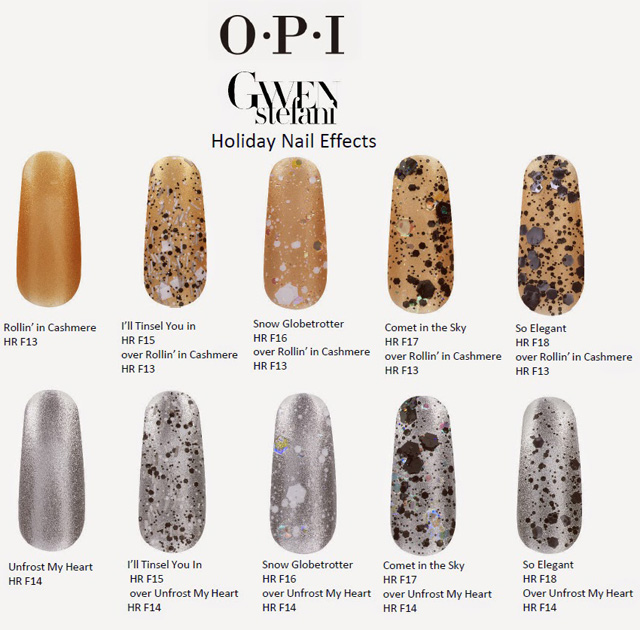 OPI Holiday 2014 Gwen Stefani New Nail Lacquers Collection 3