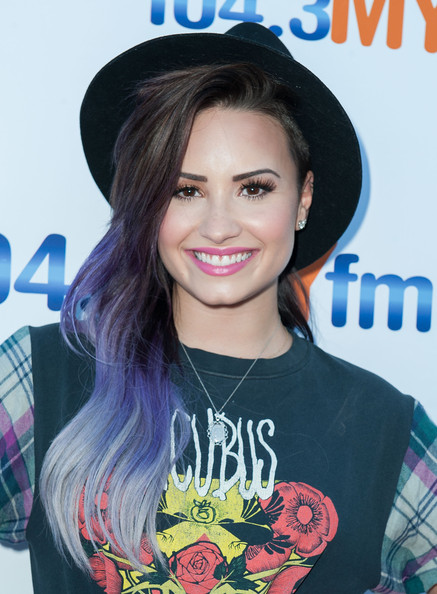 Demi Lovato Shakes Things Up With Lilac  Purple Ombre Hair Color