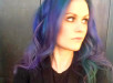 Anna Paquin Goes Purple and Blue With New Bold Hair Color 2