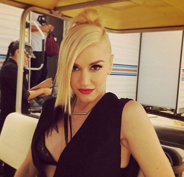 Gwen Stefani Switches Up Her Signature Blonde Locks With Jet Black Tips 2