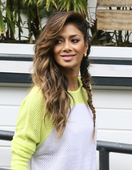 Nicole Scherzinger's Side Braid Hairstyle 2