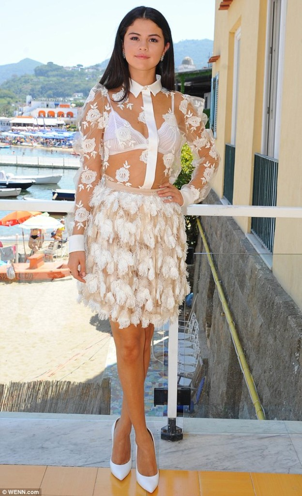Selena Gomez's Summer Look Spotted At The Ischia Global Film & Music Festival
