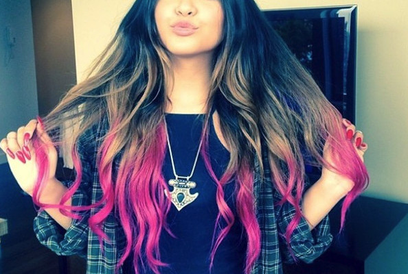 Vanessa Hudgens Shows Off New Pink Tiped Hair Color Via Instagram