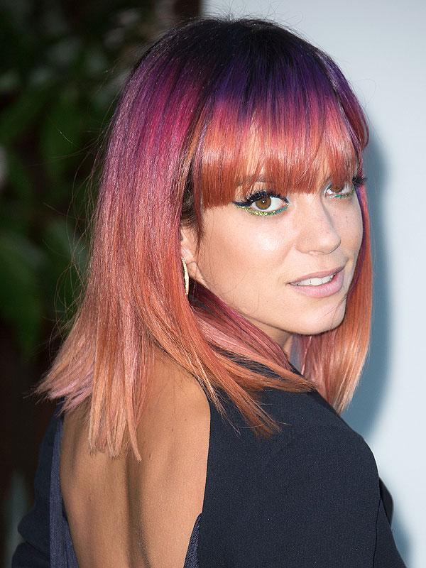We Heart Lilly Allen's Rainbow Colored Hair