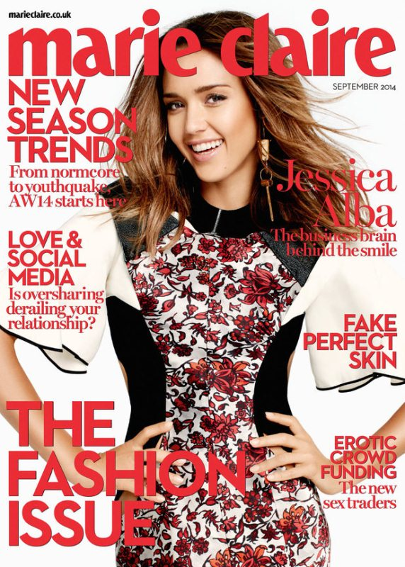 One The Cover - Jessica Alba for Marie Claire UK September 2014 6