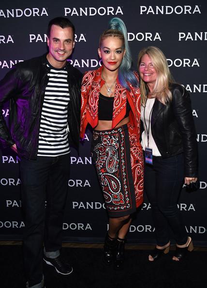 Rita Ora Shows Off Flirty Blue Ponytail 2