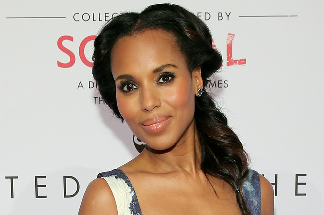 Celebrity Hairstyles - Kerry Washington Rocks Fab Fishtail Braid