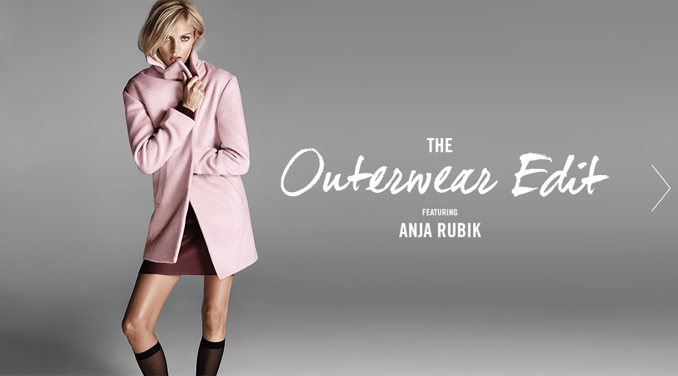Forever 21Outerwear Lookbook Featuring Anja Rubik