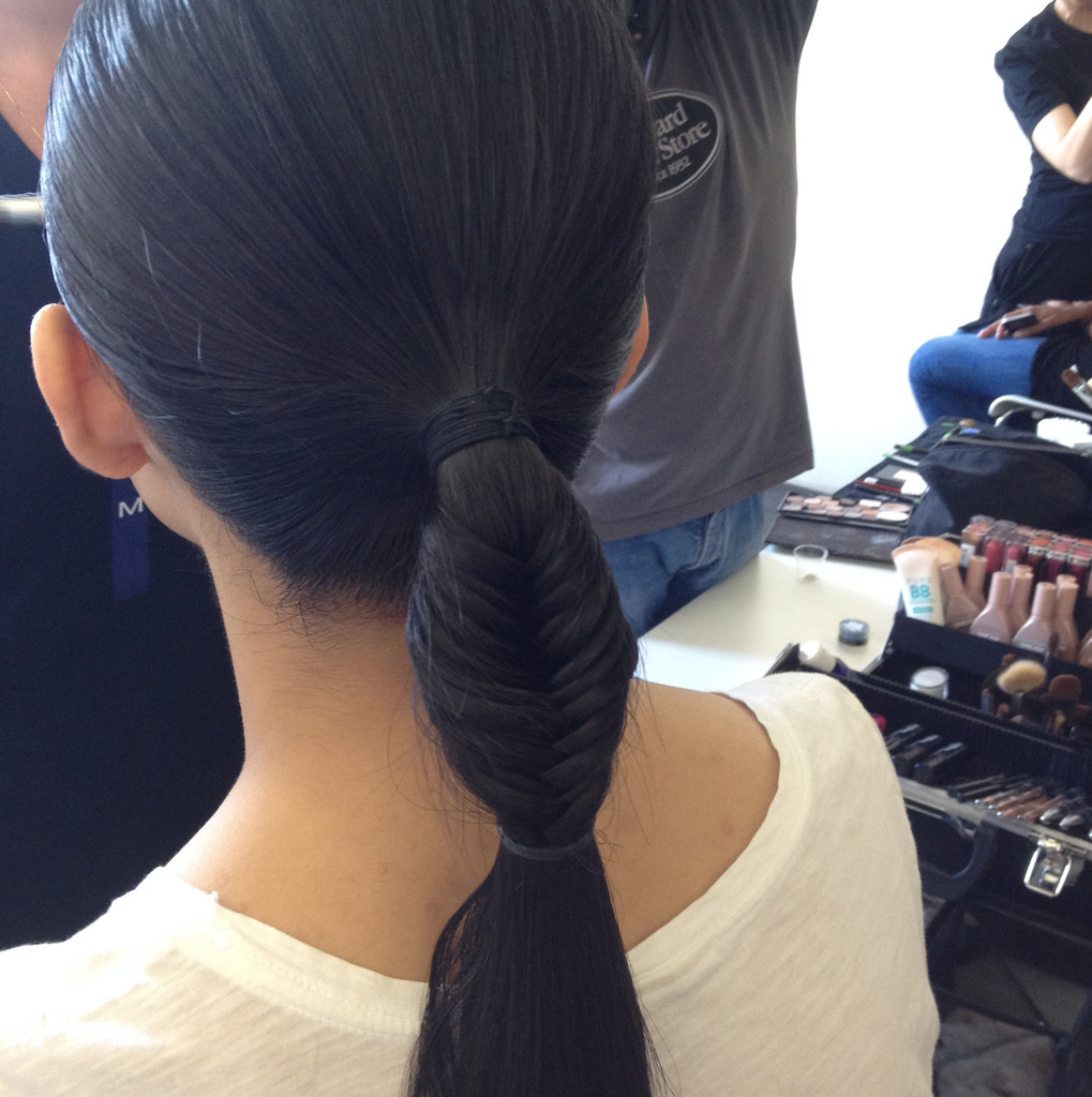 Hairstyles from The Runway How To Recreate Dannijo's Fishtail Braided Ponytail