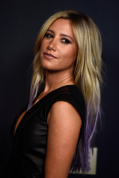 Ashley Tisdale Is Currently Rocking Lavender Strands! 2