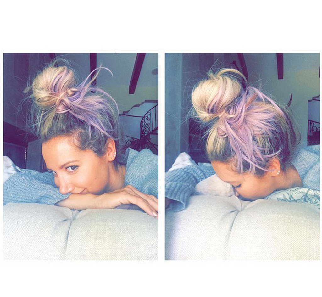 Ashley Tisdale Is Currently Rocking Lavender Strands!
