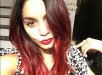 Vanessa Hudgens Debuts New Bold Red Ombre Hair Color