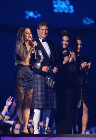 Ariana Grande Lets Her Hair Down At 2014 MTV EMA's 2